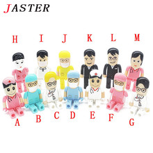JASTER Doctor nurse usb flash drive 4GB 8GB 16GB 32GB 64GB USB 2.0 toy Dentist Pendrive pen drive memory stick free shipping