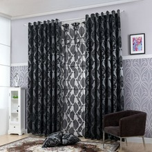 Geometry curtains for living room curtain fabrics  window curtain panel semi-blackout bedroom curtains