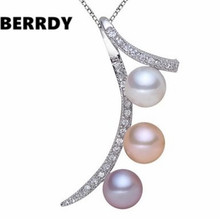 REAL PEARL Freshwater Fashion Freshwater Pearl Pendant with Necklace Chain Unique Designed Hot Gift