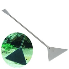 32CM Stainless Steel Aquarium Live plant tank leveler Sand bulldozer shovel grass waterweed Clipper Shear Cleaning tool Kit