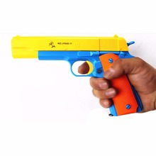 New Children's Classic Toy Guns Soft Bullet Plastic Revolver Kids Fun Outdoor Game Dolls Shooter Safety Gifts For Baby Boys Bebe
