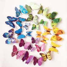 12Pc 3D Butterflies On The Wall Stickers Home Decor Wall Poster Adhesive Stickers Kitchen Wedding Decoration Vinyl Wall Decals