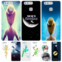 tinkerbell and peter pan Cover phone Case for huawei Ascend P7 P8 P9 P10 lite plus G8 G7 honor 5C 2017