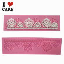 Newest product 1 pc flower silicone fondant lace mold cake mold cake decorating tools chocolate wedding cake mold(China)