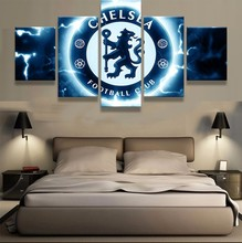 unframed 5 Pieces Chelsea Football Club Sports Team Fans Oil Painting On Canvas Modern Home Pictures Prints Liveing Room