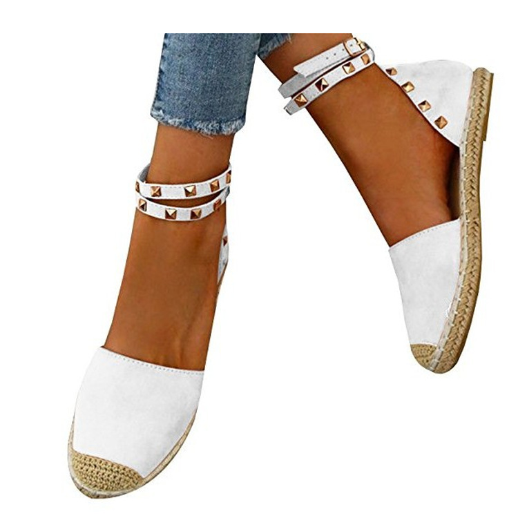 Women Sandals Fashion Peep Toe Summer Shoes Woman Faux Suede Flat Sandals Size 35-43 Casual Shoes Woman Sandals Zapatos Mujer (1)