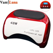 Upgraded 48W Nail Dryer LED Lamp + UV Light for Nails with LCD Display Timer Reader for gel nail polish Home Manicure(China)