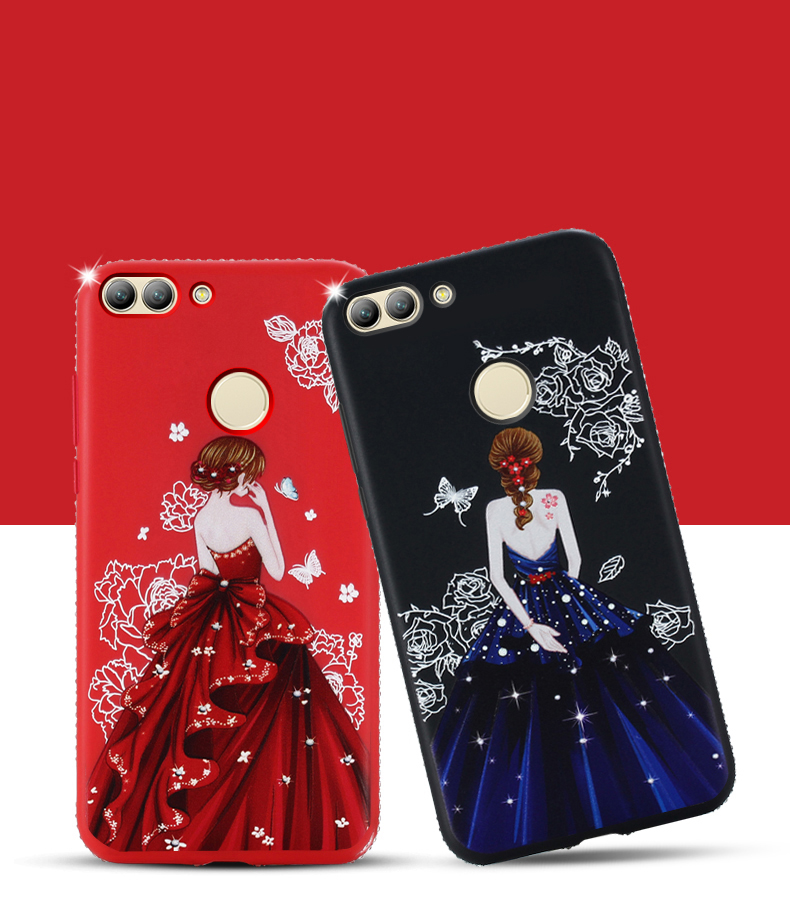 Dress girl silicone case huawei p smart (5)