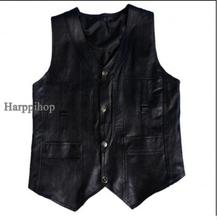 Harppihop Men genuine sheepskin leather vest spring and summer vest fur male genuine leather plus size 5XL 6XL free shipping(China)