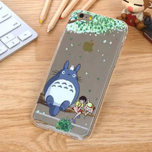 Ultrathin Cartoon Totoro Phone Case For Samsung Galaxy S6 S7 S6 Edge S7 Edge Cover Transparent Soft TPU Silicone Casing Housing