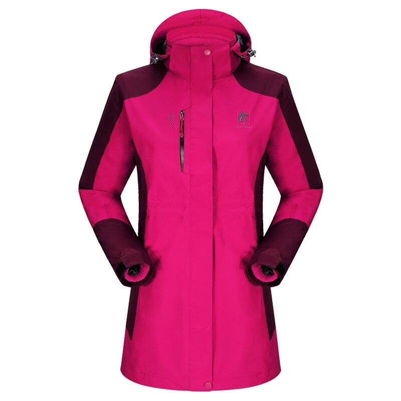 Female Two-piece Fall and Winter Sports Outing Mountaineer Parka Long Women Outdoor Weatherproof Jackets Waterproof Winderproof<br><br>Aliexpress