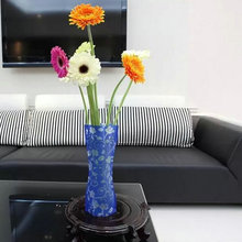 1Pc Wholesale Eco-friendly Plastic Foldable DIY Jardiniere Flower Vase for Home Decortive