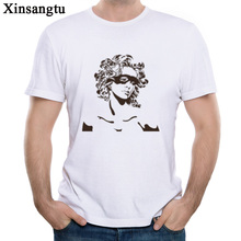 Xinsangtu Europe and the United States tide brand sexy beauty avatar, t-shirt t-shirt, printed Casual Short Sleeve(China)