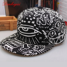 DANKEYISI Fashion Women Baseball Cap Men Polo Hat Snapback Print Unisex Baseball Cap Hip Hop New Fitted Baseball Cap Graffiti