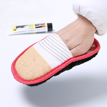 2pcs Multifunctional Soft Suede Plush Wipe Shoe Brush Cleaning Gloves Shoes Cleaner Furniture Briefcase Leather Sofa Care Brush(China)
