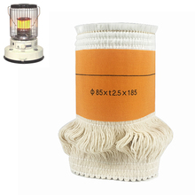 2017Best Selling85*t2.5*185mm Kerosene Stove Wicks High Quality Glass Fiber + 100%Cotton Heaters Wick Free Shipping(China)