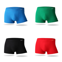 Buy 2018 Middle-waisted Underwear Men Brand Bamboo Fiber Male Panties Solid Soft Mens Boxer Shorts Comfortable Breathable Underpants