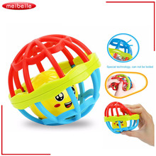 Soft Plastic Baby Grasping Bell Ball 1-12m Baby Toys Rattles Sound Educational Rolling Balls Infant Toddler Teether Toy 12 cm