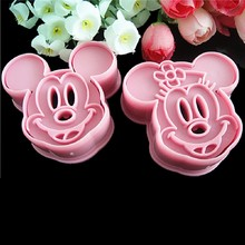 Lovely Mouse 2PCS/set Animal Fondant Cake Cookie Decorating Sugarcraft Mold Plunger Cutter DIY Cake Mold