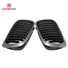 Auto Replacement Parts 1Pair Carbon Fiber Car Front Grille Racing Grills for BMW E46 2 Door 1998-2001 Exterior Parts car-styling