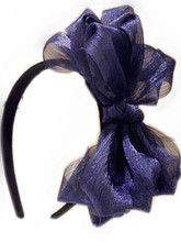 8 inches Large bow Freeshipping fashion elegant fascinator lace silk bridal british royal style knot boutique hair bow(China)
