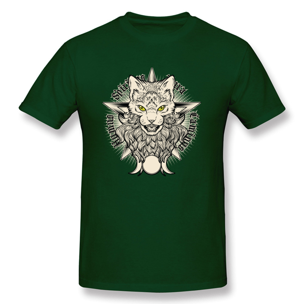 Wiccat O-Neck Top T-shirts Fall Tops Shirt Short Sleeve Company 100% Cotton Design Top T-shirts Leisure Men Wholesale Wiccat dark