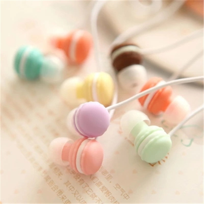 Cute Candy Mini Girl in-ear 3.5mm Macaroon Earphones for Apple IPhone 5 5s 6 6s plus for Samsung SONY Android for MP3 MP4(China (Mainland))