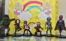 Marvel Avengers 2 Age of Ultron Hulk Black Widow Vision Ultron Iron Man Captain America PVC Figures Toys 6pcs/set KT1687