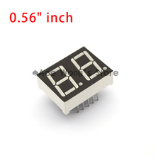 "Free shipping (10Pcs/lot) 0.56"" inch 2 Digits 7 Seven Segment Red Light LED Numeric Digital Display,Common Anode(China)"