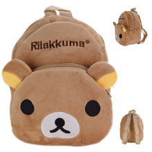 New Kawaii Rilakkuma Plush Backpack Stuffed Backpacks For Boys Girls School Bag Plush Toys Children School Bag