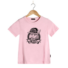 Girls T shirt Summer Children Clothes 100% Cotton Dr. Slump Arale Cartoon Print Short Sleeves Kids T-shirt