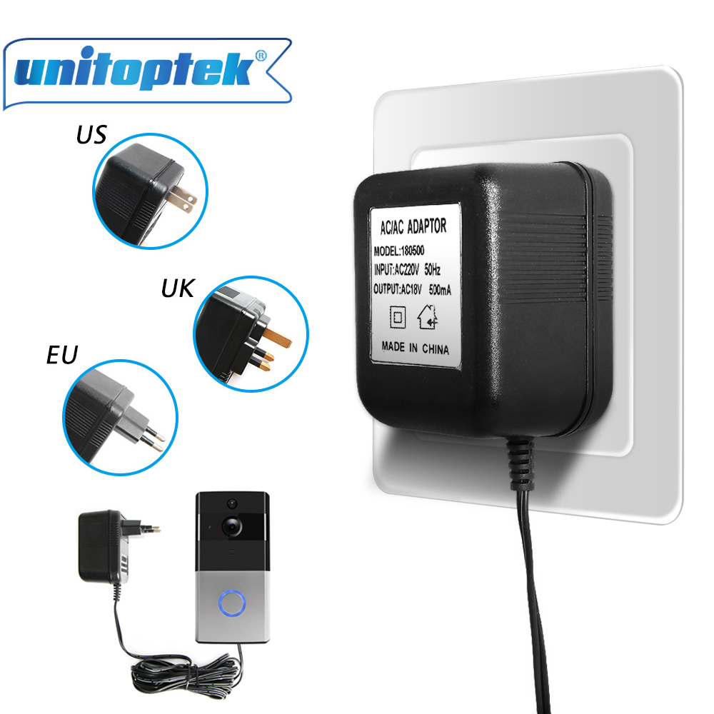 Power Supply Adapter Transformer US//AU//EU Plug For Video Ring Doorbell 5m Wire