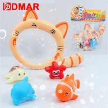 DMAR Swimming Pool Baby Pool Toys Spray Water Bathing Bathtub Toy Set Cartoon Cat Animal Float Water Toys Fun Summer 2017 NEW(China)