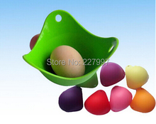 Free Shipping 1000pcs/lot 100% food grade silicone egg cooker silicone egg poacher pod high quality(China)