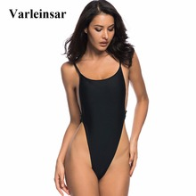 Varleinsar 2017 New Sexy high cut one piece swimsuit Backless swim suit women Swimwear thong Bathing suit female Monokini V478(China)