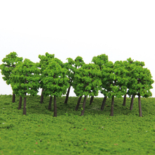 40Pcs 1/250 Scale Plastic Model Trees Train Railroad Scenery Landscape 1:250 Green 5CM Dollhouse Garden Decoration Tree Model