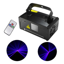 New Mini Portable 8 CH DMX 150mW Blue Laser Scanner Effect Stage Lighting DJ Party Club Show LED ProjectorLights DM-B150