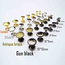 100 Metal Double Cap Side Round Rapid Rivet Leathercraft Leather Belt Wallet Bag Shoe Decorative DIY Punk Nailhead Spike Stud