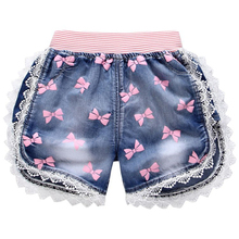 2 styles Baby girls shorts jeans cartoon summer cotton children's shorts kids denim shorts for girls clothes Z111