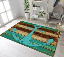 Lb Nautical Anchor Rustic Wood Doormat Floor Mat Area Rugs Bedroom