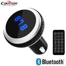 Car Bluetooth MP3 Player Dual USB Handsfree FM Transmitter New Smart Music Audio Palyer with Wireless Remote Control