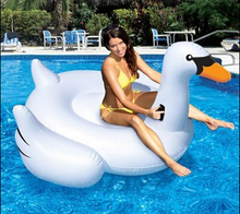 2015 Hot White Swan Big Size Inflatable Floating Plate Swimming Pool Toy Children Adult Outdoor Tool Funny Special Novelty Item
