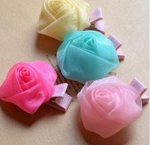 Pet Hairpin Fashion Cute Rose Pets Dog Hair Accessories Clips Pet Accessories