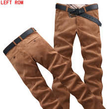 Left ROM loose middle-aged dad installed in autumn winter men's casual pants corduroy