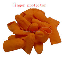 Orange Finger Protector for Hair Extensions Cots for Hair Extension Bonding 30pieces/pack(China)