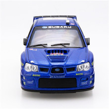 Brand New 1/36 Scale Car Model Toys Muddy Edition Subaru Impreza WRC 2007 Racing Car Diecast Metal Pull Back Car Model Toy TY043