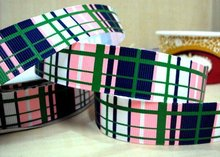 (5yds per roll) 5Y14541 david ribbon 7/8 '' MTMG SMART GIRLS RULE PLAID grosgrain ribbon hairbows printed ribbon freeshipping