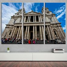 New Famous Building Oil Painting Modern Canvas Picture A4 Art HD Print Home Wall Decoration Painting on Canvas Art Works 3 Piece