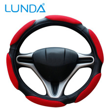 Sandwich Sport Type Car Steering Wheel Cover Anti-Slip 38CM winter high quality car steering wheel covers
