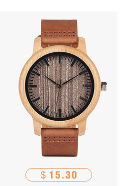 CnwinTech Bamboo Wood Watches Men Casual Clock - BOBO BIRD 8